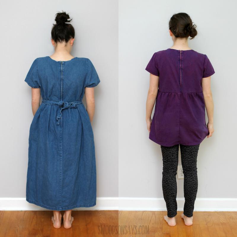back zipper dress refashion