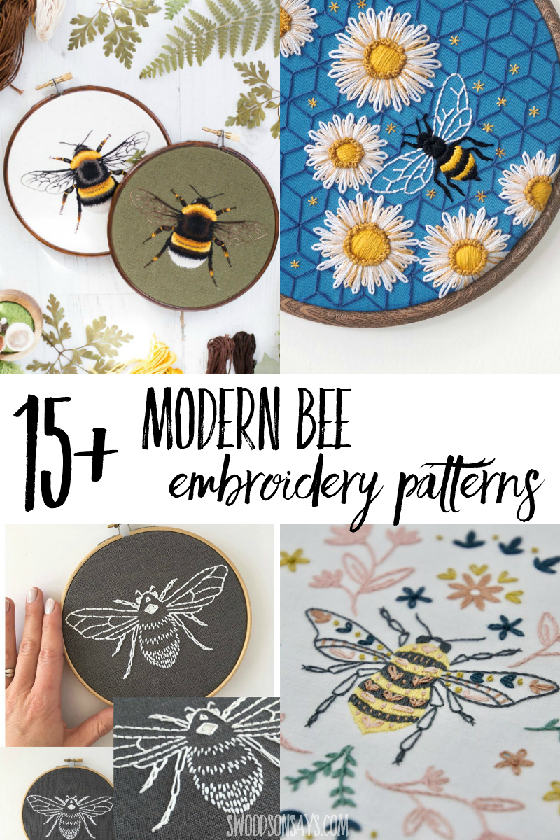 bee embroidery designs