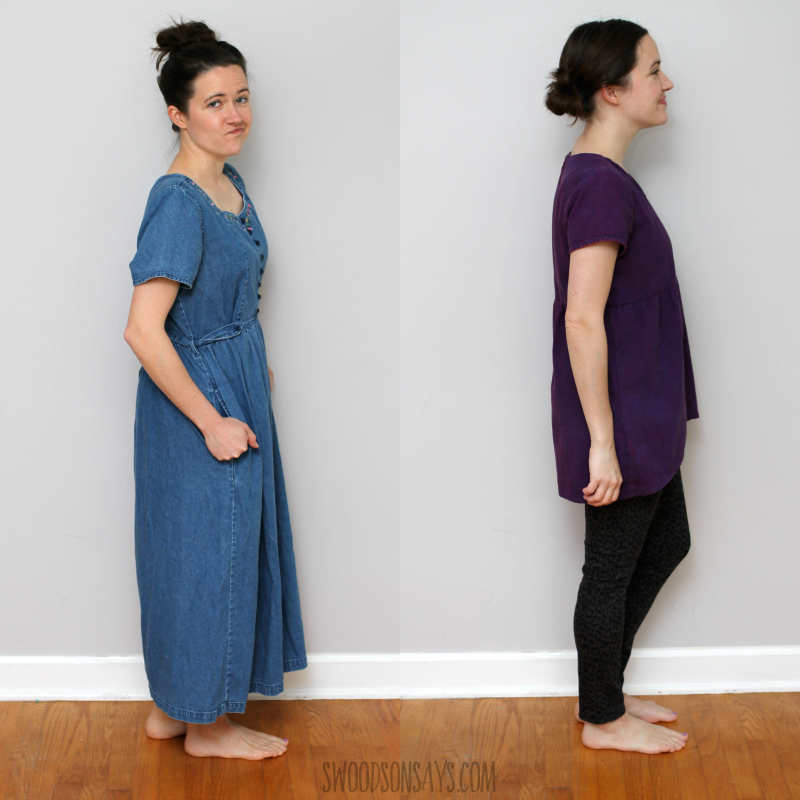 denim dress makeover