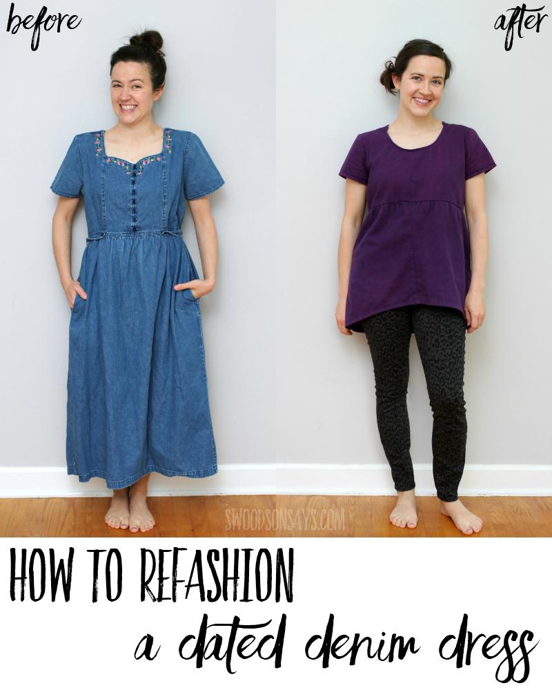 dress refashion tutorial