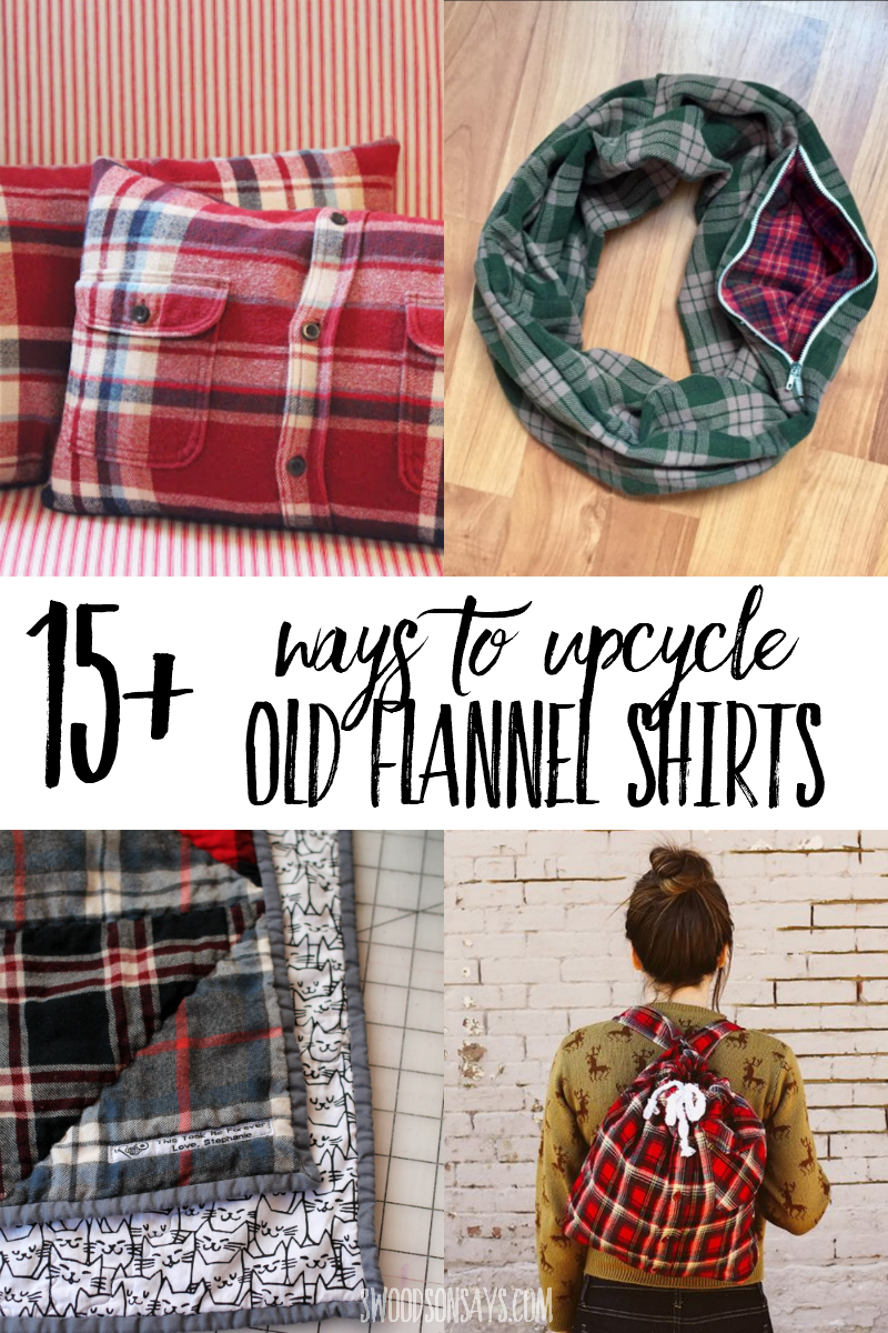 flannel shirt upcycle tutorials