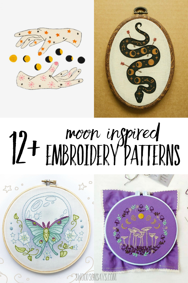 moon hand embroidery patterns