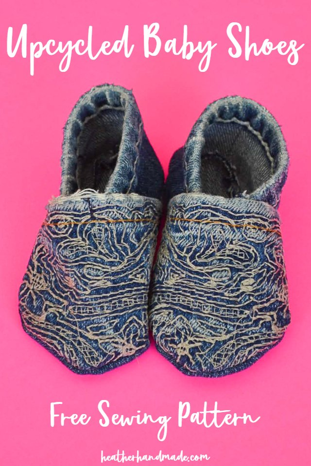 upcycled baby shoe