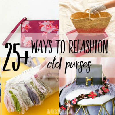 25+ ways to refashion purses & bags