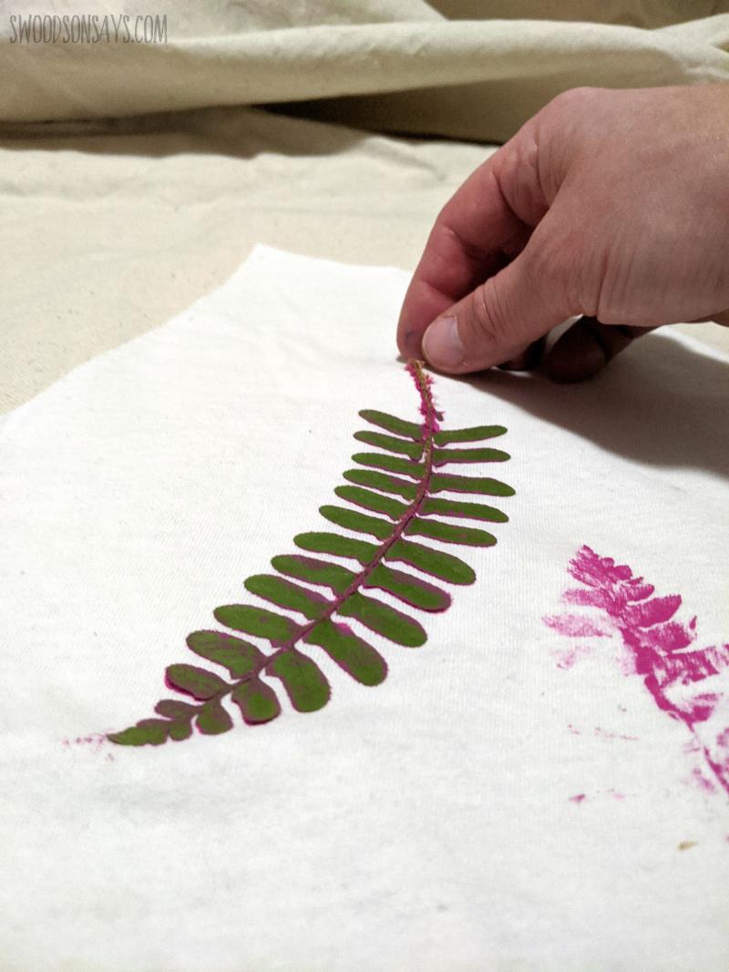 diy fern fabric