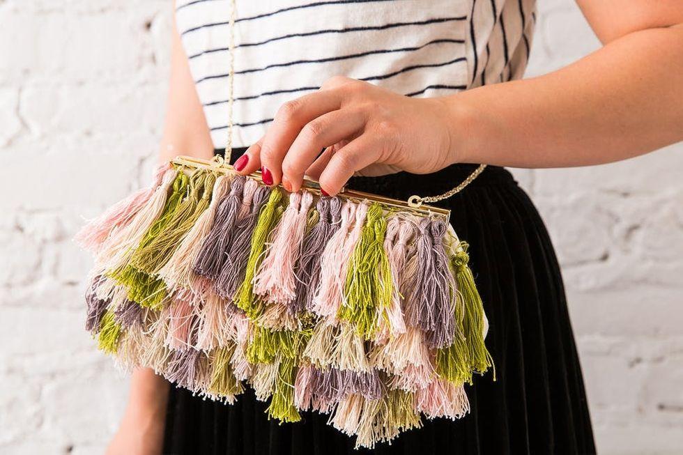 diy fringe purse tutorial