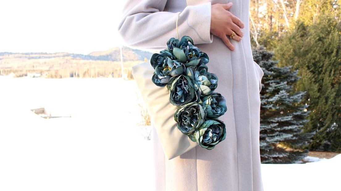 faux floral purse refashion
