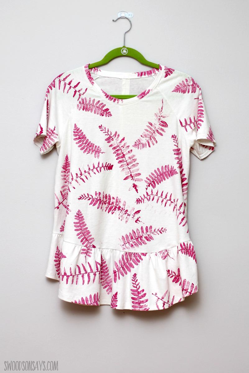 fern print craft fabric
