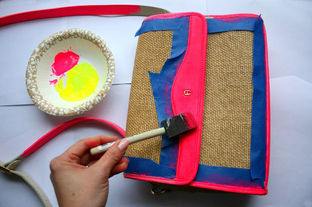 how to paint a purse