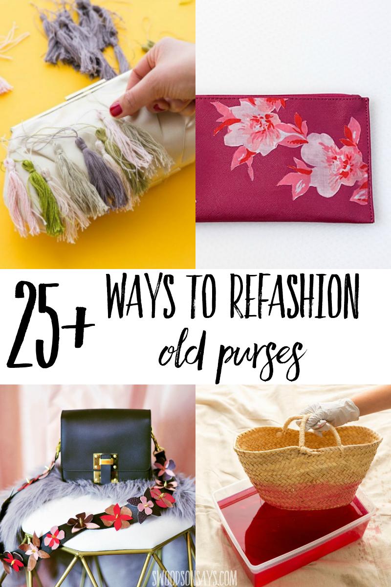 how to refashion a bag makeover tutorials