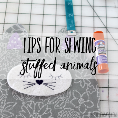 how to sew a stuffed animal - tips for sewing softies