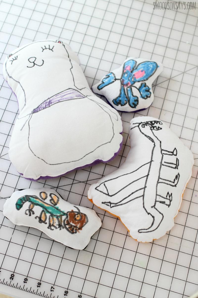 kid drawn stuffed animals