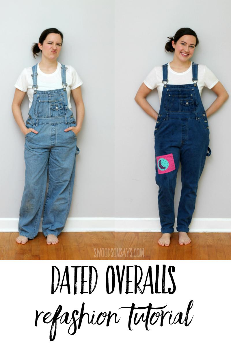 overalls refashion tutorial