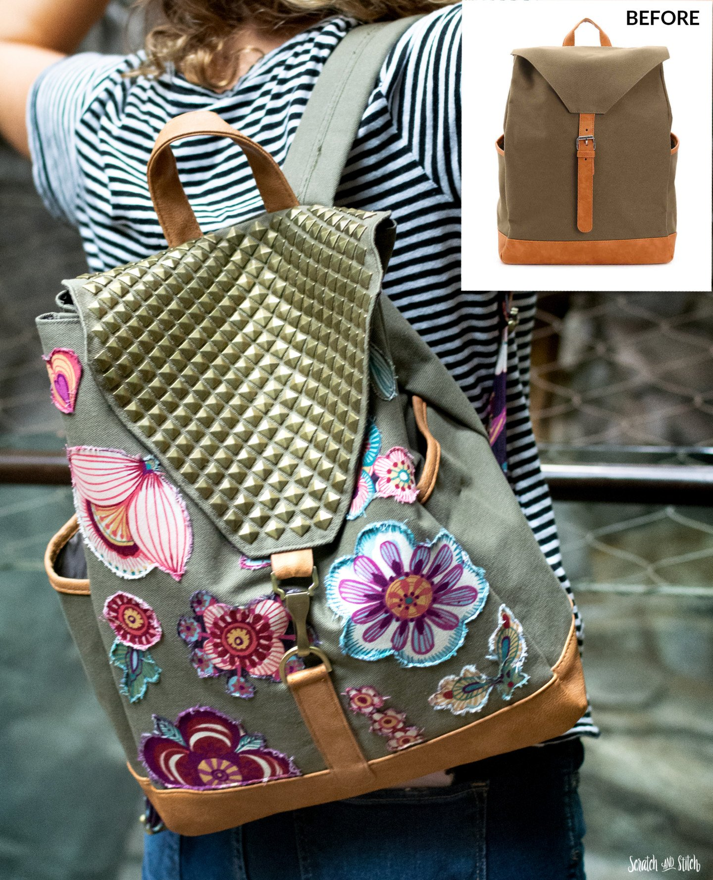 refashioned backpack