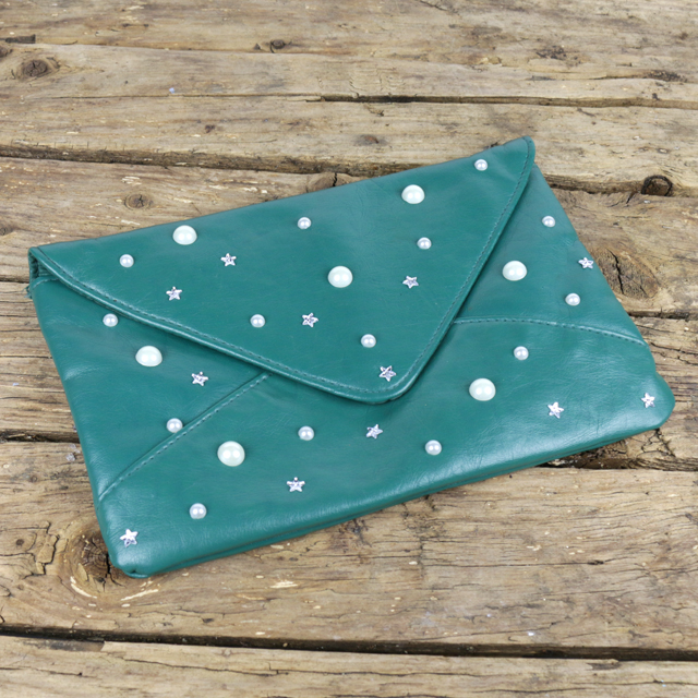 bedazzled purse refashion