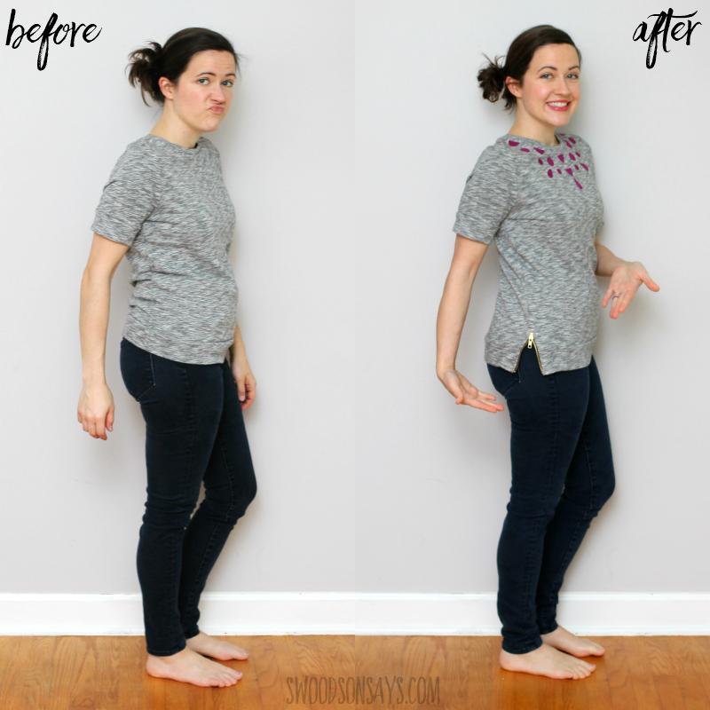 tshirt refashion side zipper