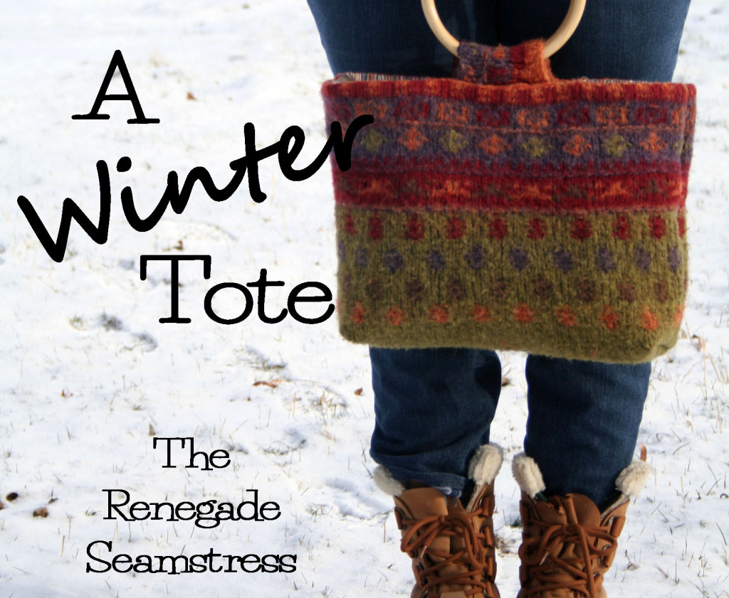 wool sweater tote upcycle