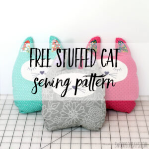 Free stuffed cat sewing pattern and tutorial