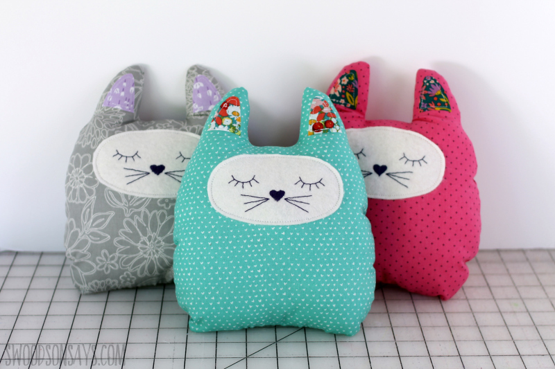 simple cat sewing pattern