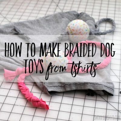 How to make braided dog toys from tshirts