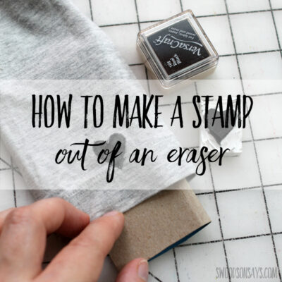 How to make a stamp out of an eraser