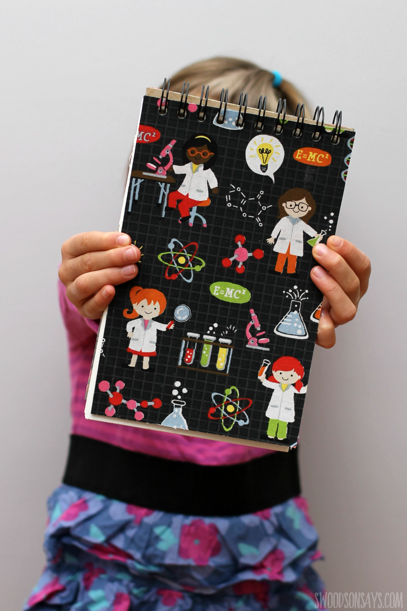 girls in science fabric