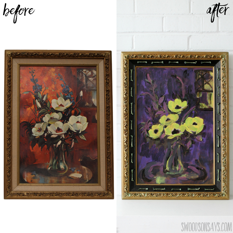 halloween painting makeover