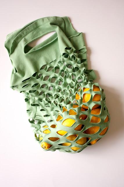 tshirt produce bag
