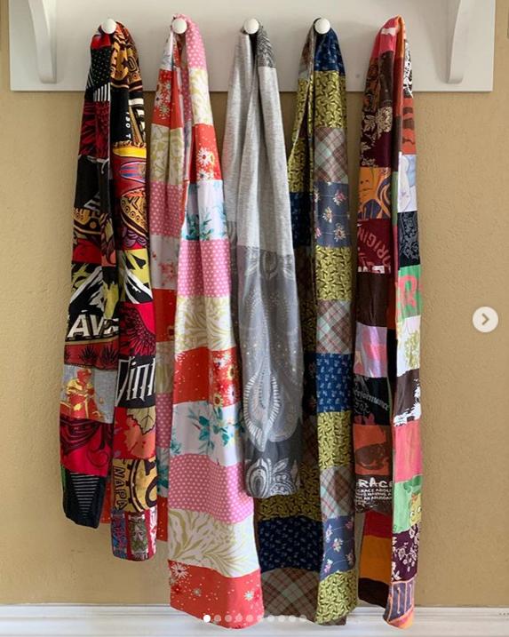upcycled tshirt scarf tutorial