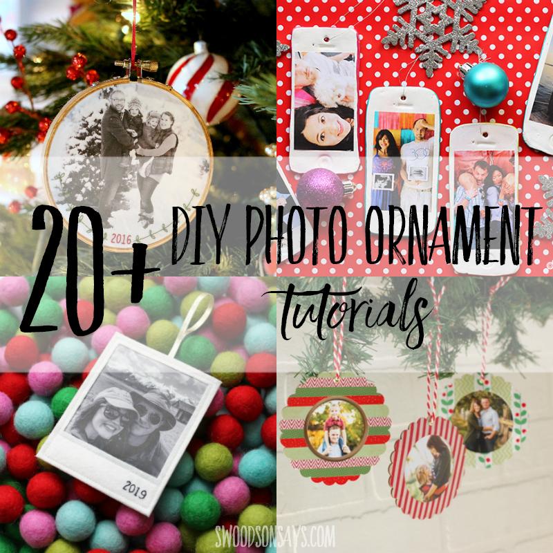 20+ photo ornaments diy tutorials