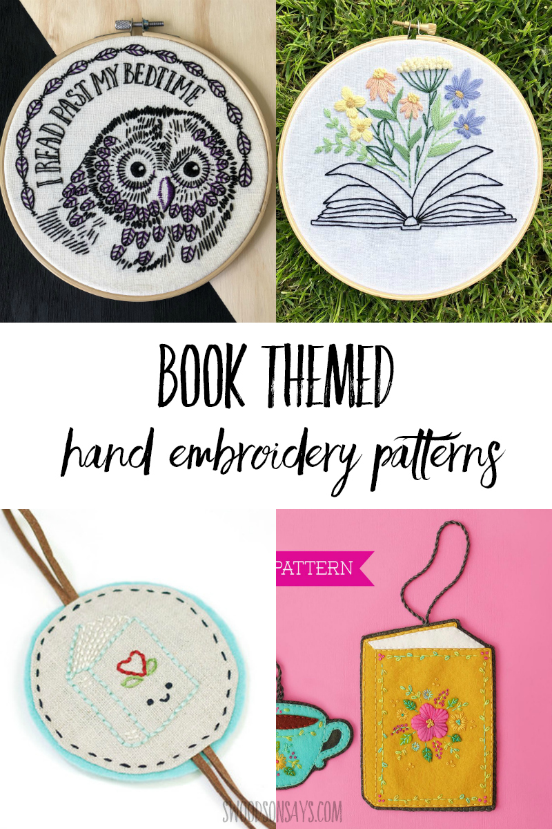 book themed hand embroidery patterns