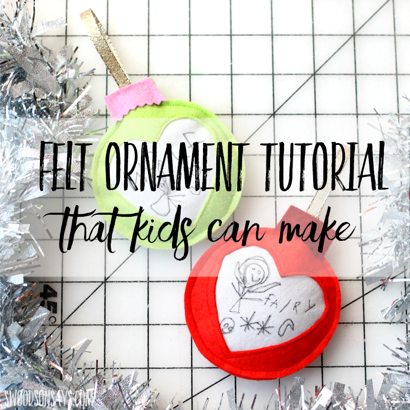 felt ornament kids can make free pattern