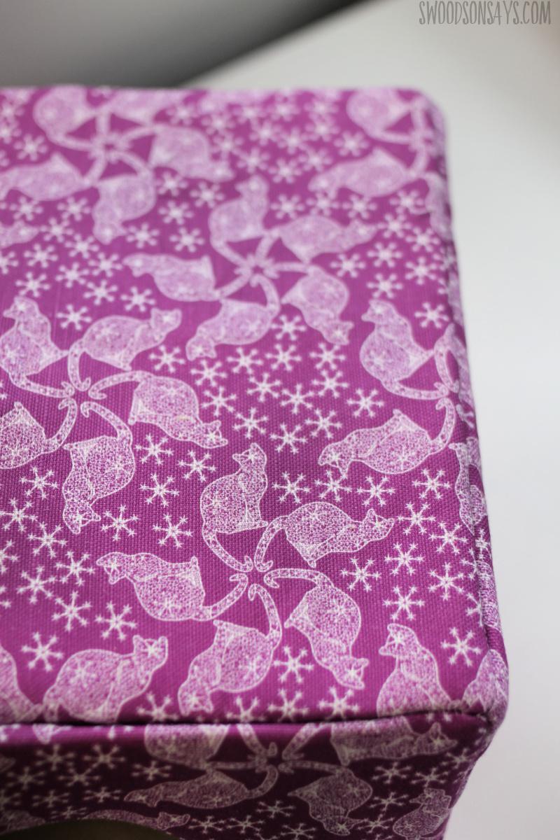 purple lace cat fabric