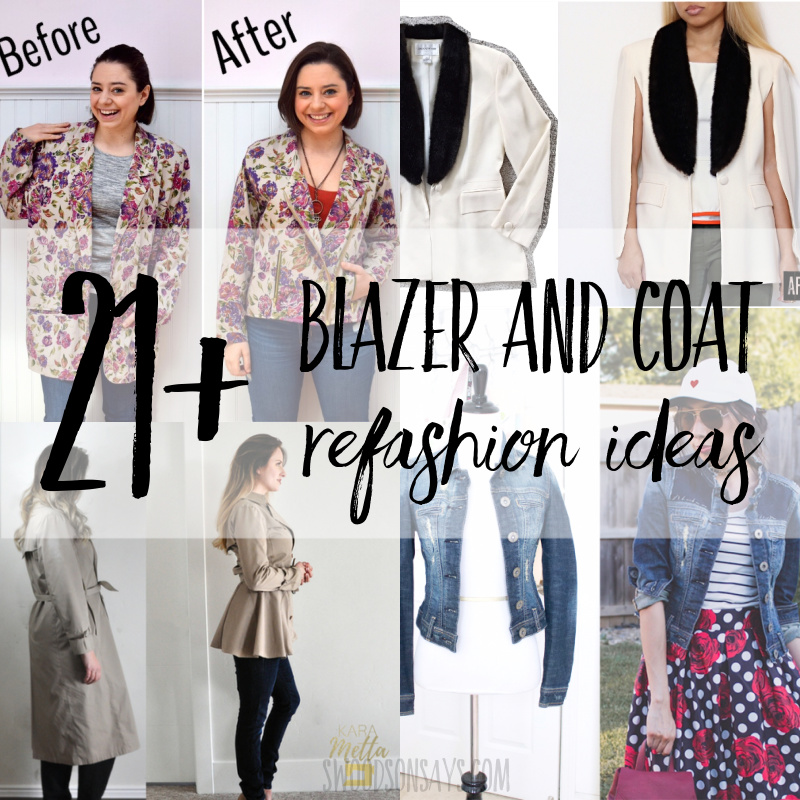 21+ blazer and coat refashion ideas