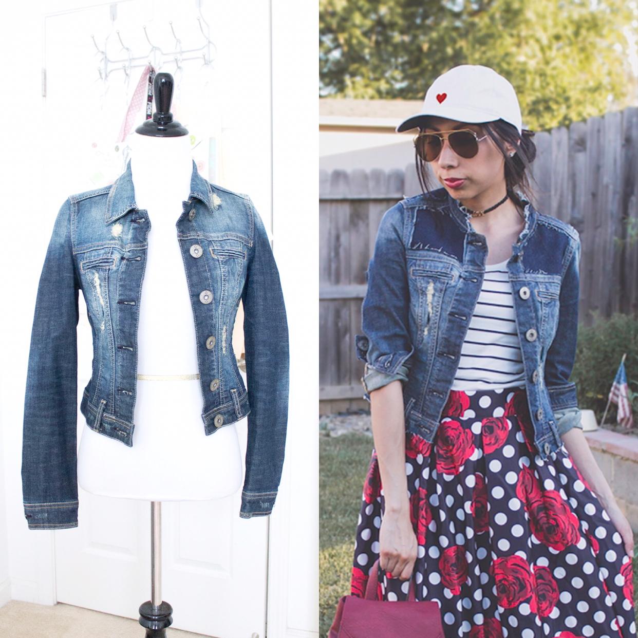 jean jacket refashion idea