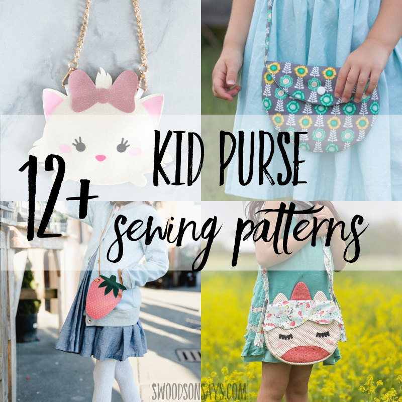 12+ DIY purse patterns to sew for kids