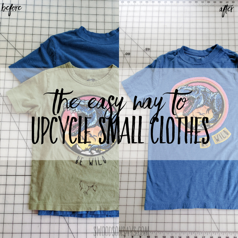 The easy way how to upcycle clothes that are too small