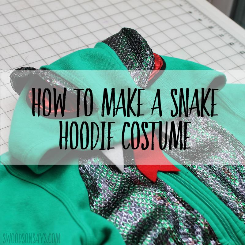 Snake costume DIY free pattern & tutorial