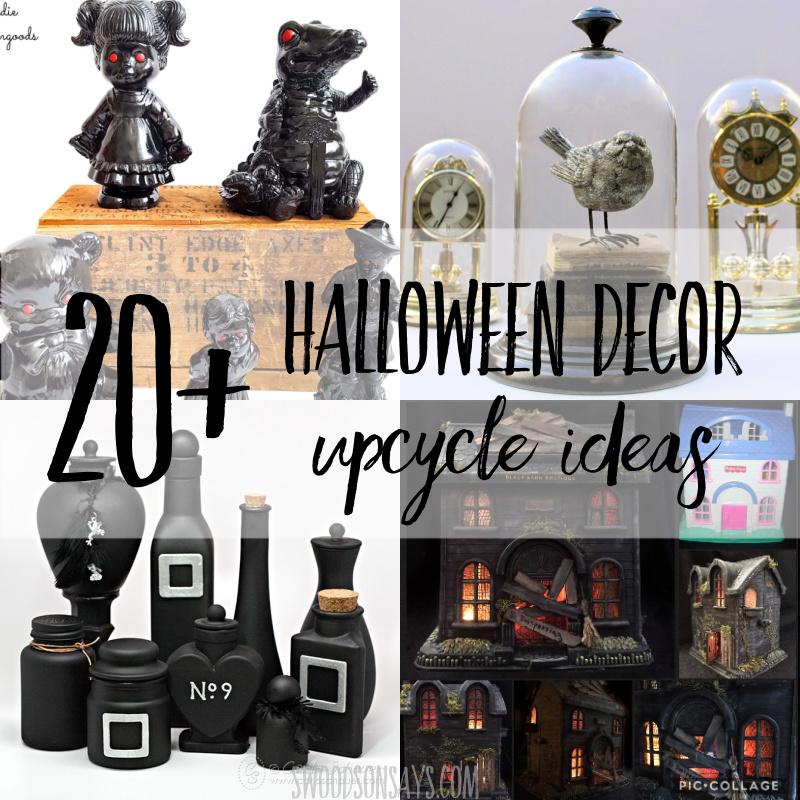 20+ upcycled Halloween decor ideas